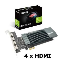 ASUS VGA NVIDIA GT 710-4H-SL-2GD5 2GB 4 monitores