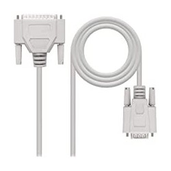 CABLE SERIE NULL MODEM  DB9/H-DB25/M  1.8 M