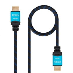 CABLE HDMI V2.0 4K@60Hz 18Gbps  A/A-A/M  NEGRO  0.5 M