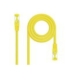 CABLE RED LATIGUILLO RJ45 LSZH CAT.6A SFTP AWG26  AMARILLO  2.0 M