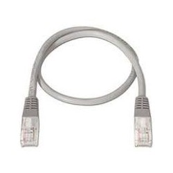 CABLE RED LATIGUILLO RJ45 LSZH CAT.6A UTP AWG24  BLANCO  0.5 M